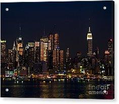 New York Skyline View Acrylic Print by Andrew Kazmierski