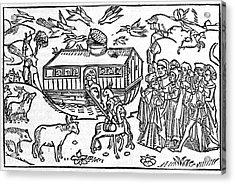 Noah's Ark, 16th-century Bible Acrylic Print by King's College London