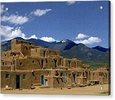 North Pueblo Taos Acrylic Print by Kurt Van Wagner