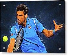 Novak Djokovic Acrylic Print by Semih Yurdabak