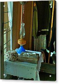 Oil Lamp And Bible Acrylic Print by Douglas Barnett