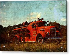 Old Fire Truck Acrylic Print by Off The Beaten Path Photography - Andrew Alexander