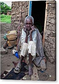 Old Man Africa Acrylic Print by Jennifer K