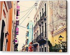 Old San Juan Puerto Rico Acrylic Print by Kim Fearheiley