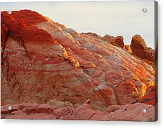 Petrified Fire Acrylic Print by Christine Till