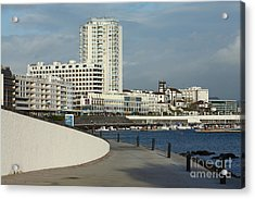 Ponta Delgada Waterfront Acrylic Print by Gaspar Avila
