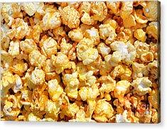 Popcorn Background Acrylic Print by Carlos Caetano