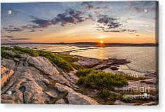 Popham Beach From Fox Island Acrylic Print by Benjamin Williamson
