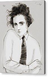 Portrait Of A Woman Acrylic Print by H James Hoff