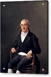 Portrait Of Cooper Penrose Acrylic Print by Louis David