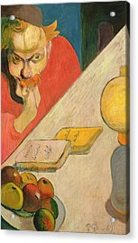Portrait Of Jacob Meyer De Haan Acrylic Print by Paul Gauguin