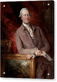Portrait Of James Christie Acrylic Print by Thomas Gainsborough