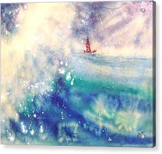 Powerful Sailing Acrylic Print by John YATO
