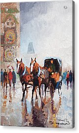 Prague Old Town Square Acrylic Print by Yuriy  Shevchuk