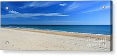 Praia Do Cabeco - Panoramic Acrylic Print by Carl Whitfield