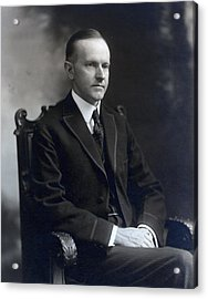 President Calvin Coolidge Acrylic Print by International  Images