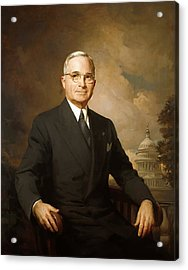 President Harry Truman Acrylic Print by War Is Hell Store