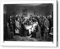 President Lincoln's Deathbed Acrylic Print by War Is Hell Store
