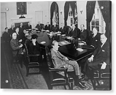 President Roosevelt Meeting Acrylic Print by Everett