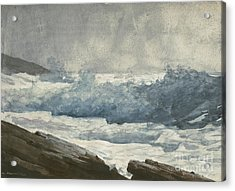 Prouts Neck, Breakers Acrylic Print by Winslow Homer