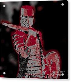 Red Knight Acrylic Print by Lillian Michi Adams