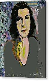 Regina Acrylic Print by Noredin Morgan