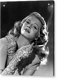 Rita Hayworth, Columbia Pictures, 1940s Acrylic Print by Everett