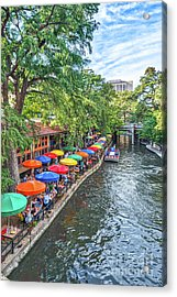 Riverwalk San Antonio Acrylic Print by Tod and Cynthia Grubbs