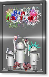 Robo-x9 Celebrates Freedom Acrylic Print by Gravityx9  Designs