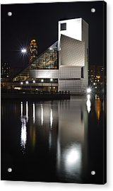 Rock And Roll Hall Of Fame At Night Acrylic Print by At Lands End Photography