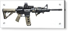 Rock River Arms Ar-15 Rifle Equipped Acrylic Print by Terry Moore