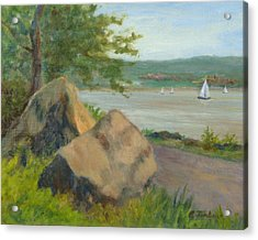 Rocks Along The Nyack Trail Acrylic Print by Phyllis Tarlow