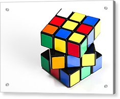 Rubiks Cube Acrylic Print by Photo Researchers
