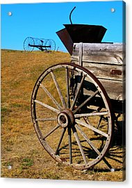 Rustic Wagon Acrylic Print by Perry Webster