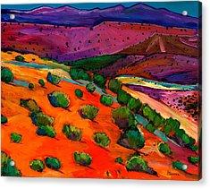 Sage Slopes Acrylic Print by Johnathan Harris