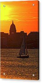 Sailing - Lake Monona - Madison - Wisconsin Acrylic Print by Steven Ralser