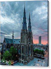 Saint Catherina Church In Eindhoven Acrylic Print by Semmick Photo