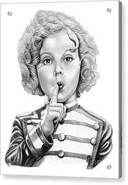 Shirley Temple Acrylic Print by Murphy Elliott