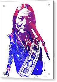 Sitting Bull Acrylic Print by Greg Joens