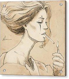 Smoke Break Acrylic Print by H James Hoff