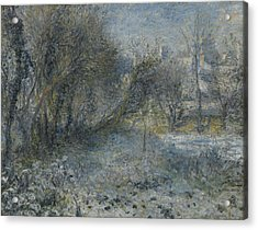 Snow Covered Landscape Acrylic Print by Auguste Renoir
