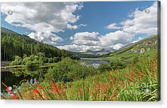 Snowdonia Lake Acrylic Print by Adrian Evans