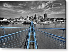 South Tower - Selective Color Acrylic Print by Russell Todd