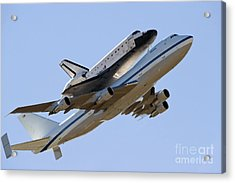 Space Shuttle Endeavour Mounted Acrylic Print by Stocktrek Images