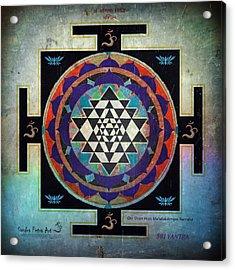 Sri Yantra Magic Acrylic Print by Sandra Petra Art