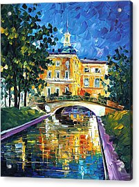 St Petersburg - Palette Knife Oil Painting On Canvas By Leonid Afremov Acrylic Print by Leonid Afremov
