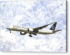 Star Alliance Boeing 777 Art Acrylic Print by David Pyatt