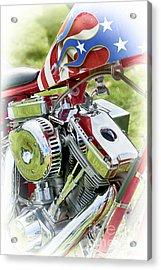 Stars And Stripes Harley Acrylic Print by Tim Gainey