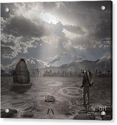 Steampunk Traveler Acrylic Print by Keith Kapple