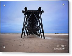 Steetley Pier Acrylic Print by Stephen Smith